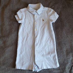 Ralph Lauren polo button onesie